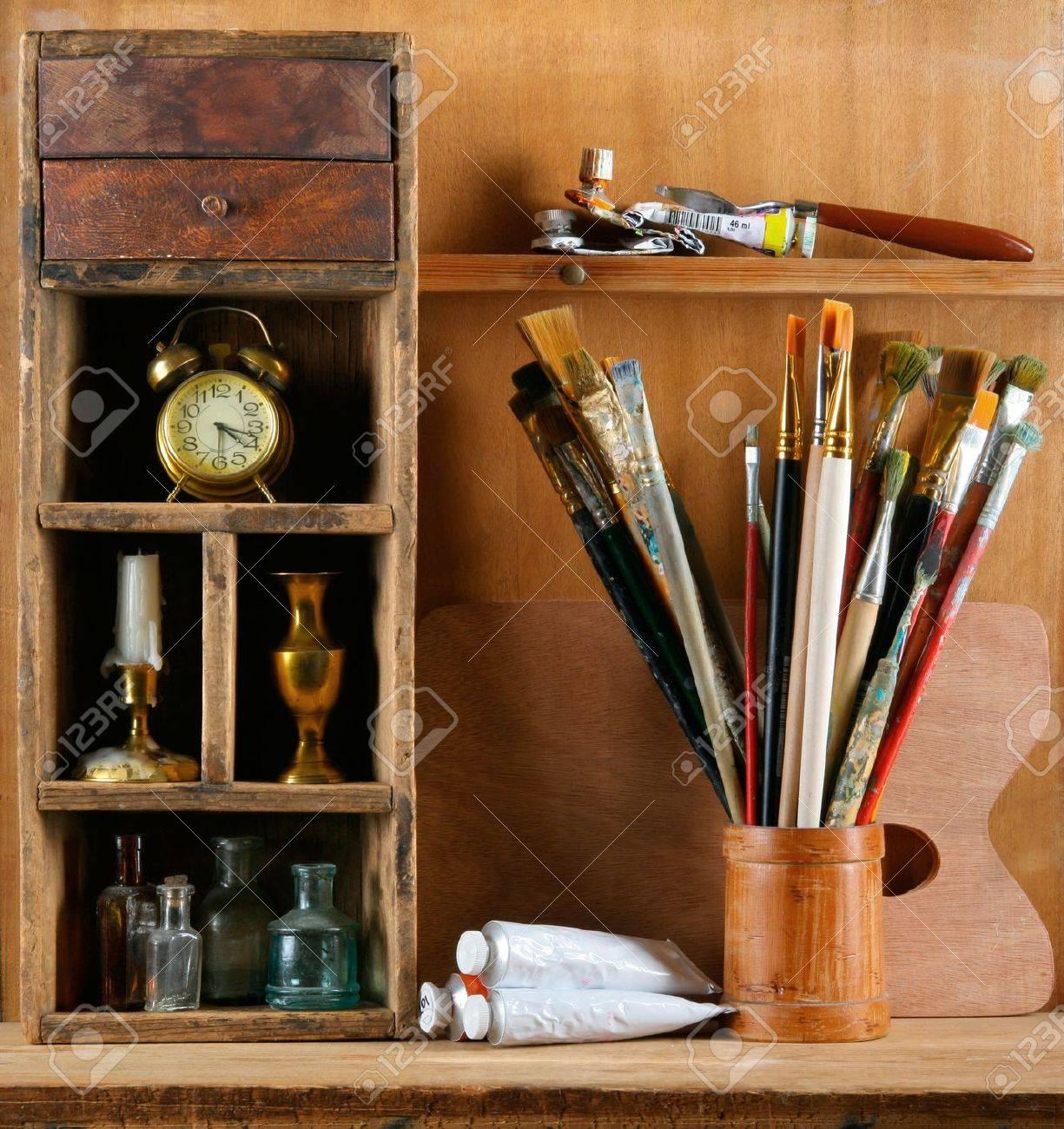 Still-life in studio of the artist - 10711145