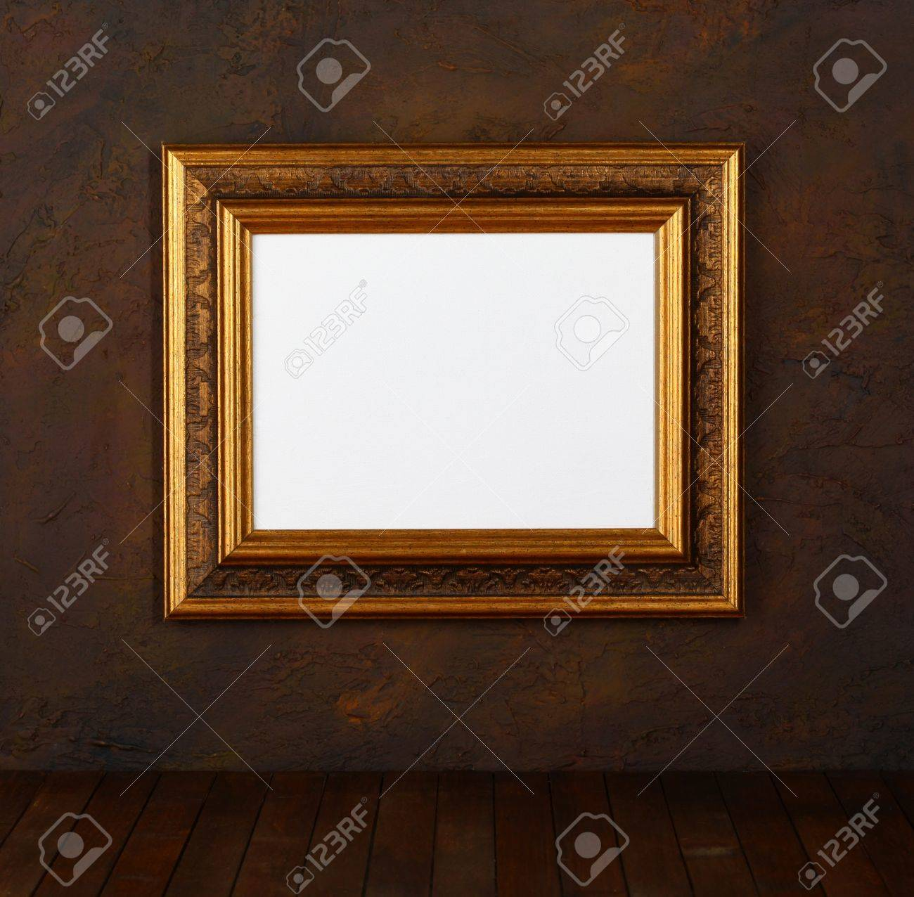 Old Frames Over The Grunge Wall Background Stock Photo, Picture And ...