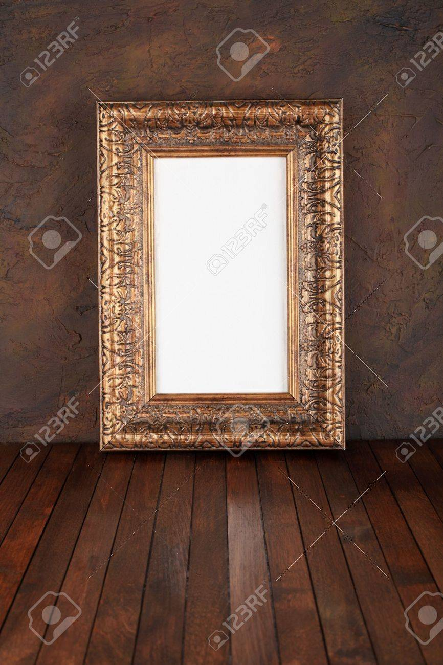 old  frames over the grunge wall background Stock Photo - 10872273