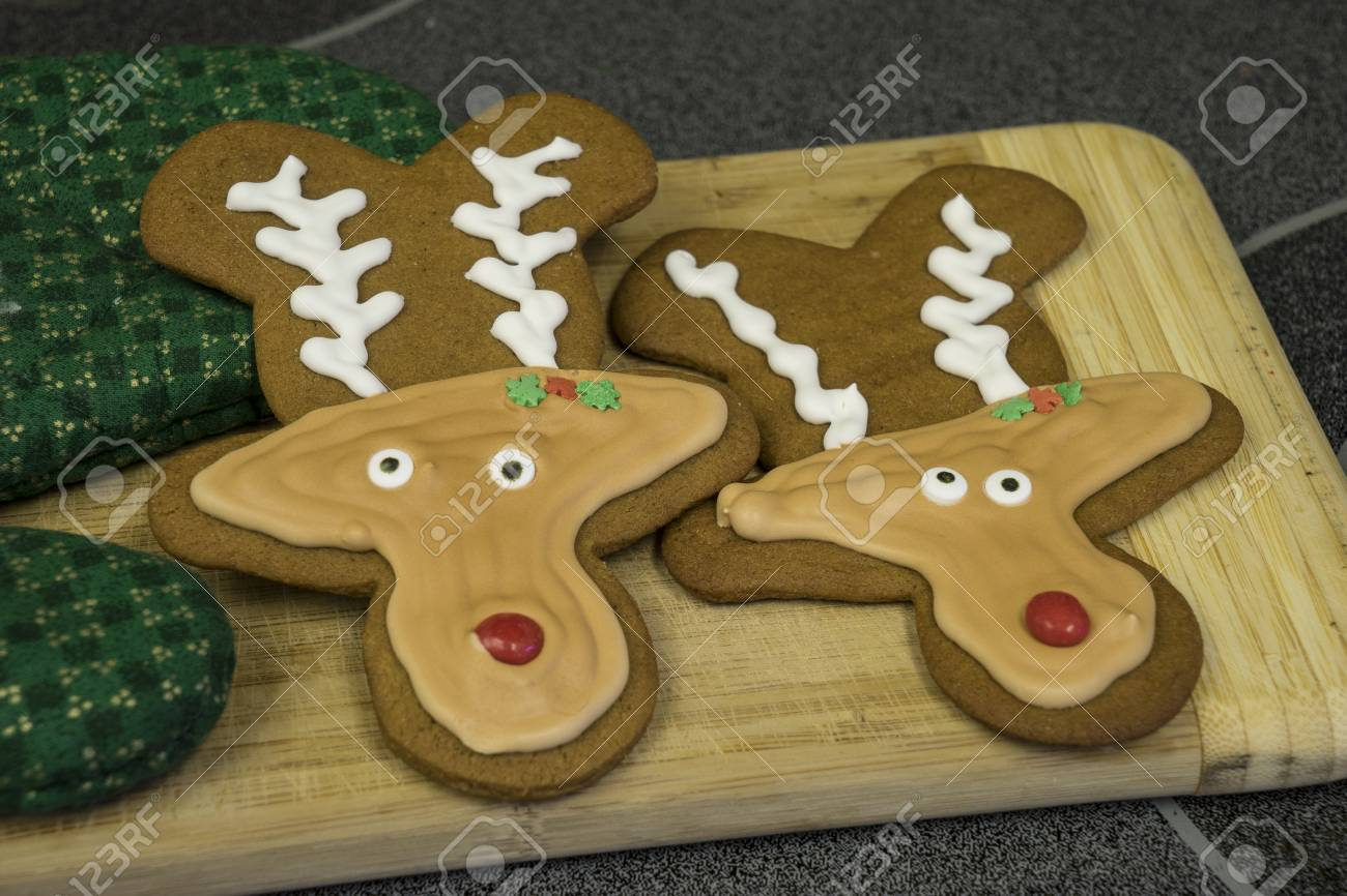 Gingerbread Reindeer Cookies With Perfect Royal Icing