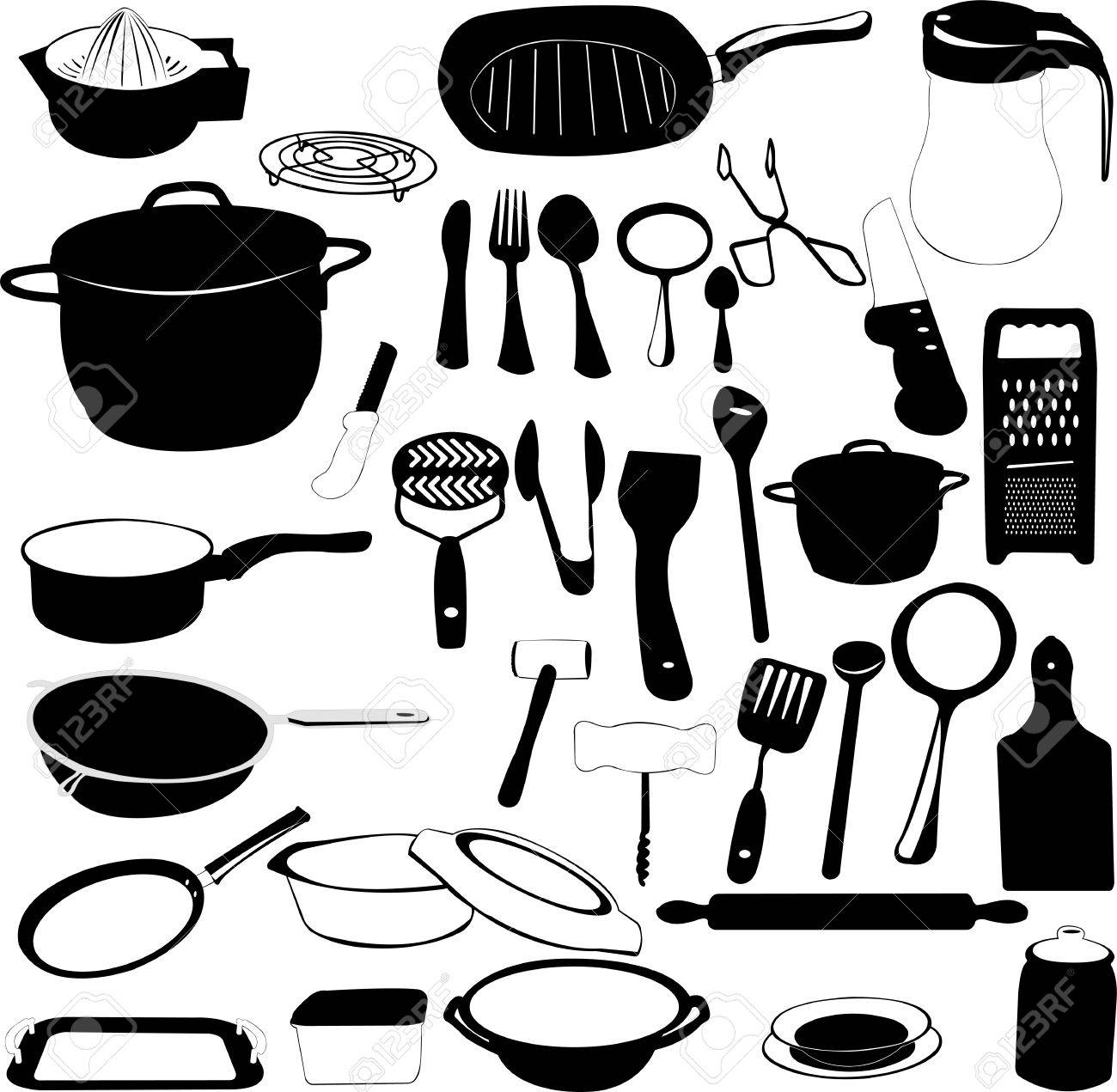 Kitchen tools drawing - Vector Kitchen Tools Collection