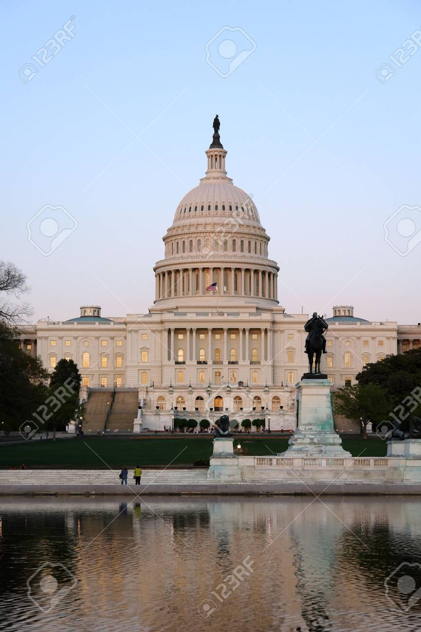 Capitol Hill at sunset, Washington DC Stock Photo - 3493316