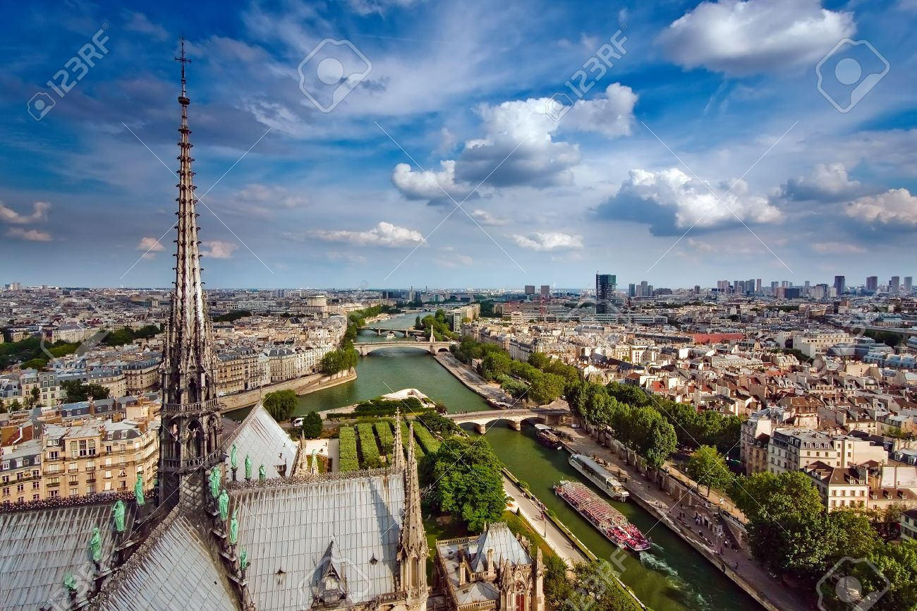 View on Paris from Notre Dame, France Stock Photo - 4495937