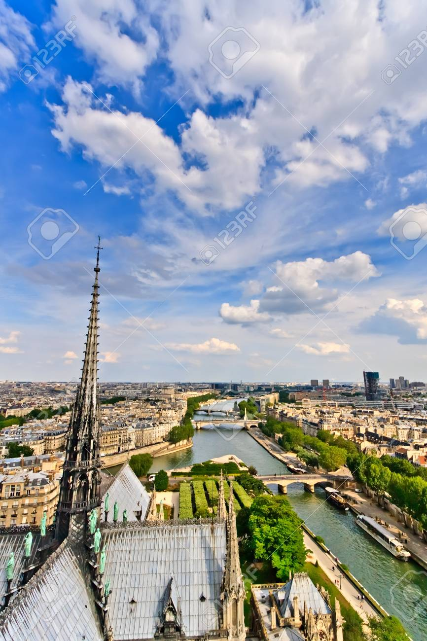 View on Paris from Notre Dame, France Stock Photo - 7908670