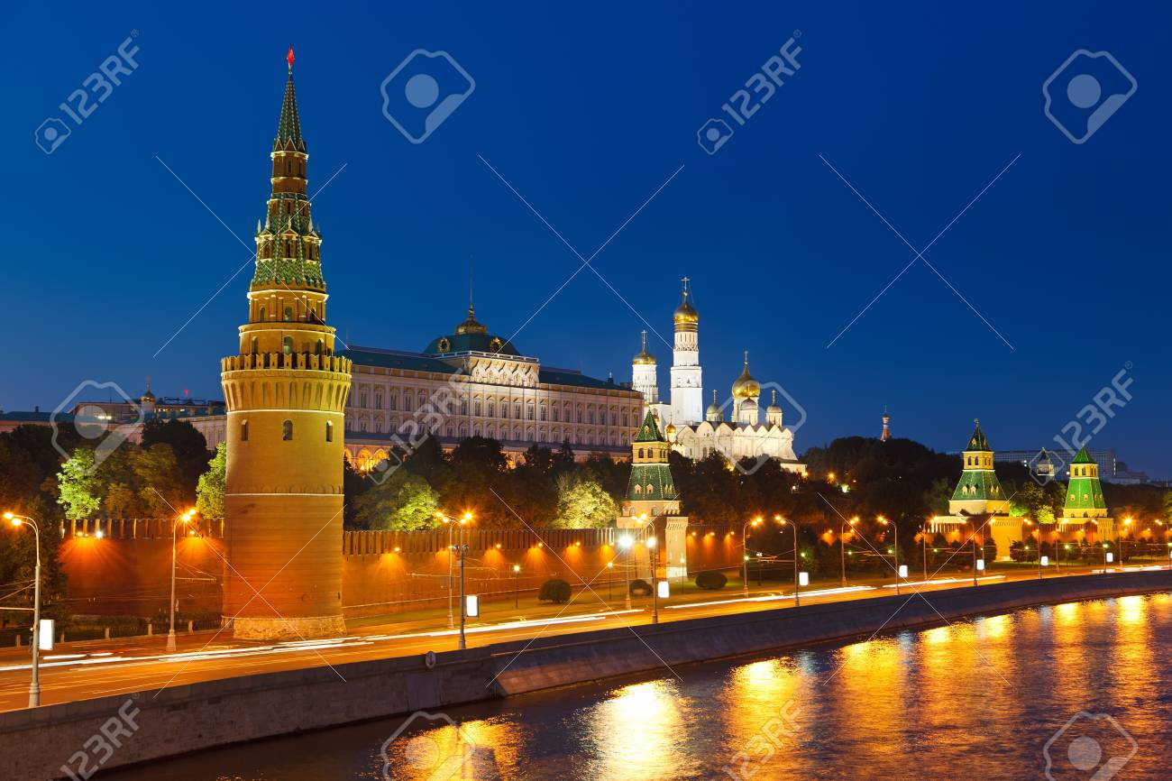 Moscow Kremlin at night Stock Photo - 9019826