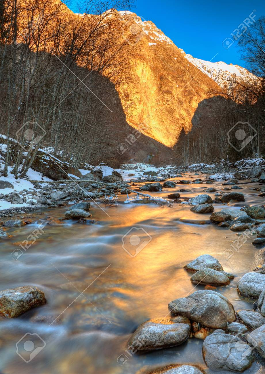 Mountain river in Alps Stock Photo - 9081023