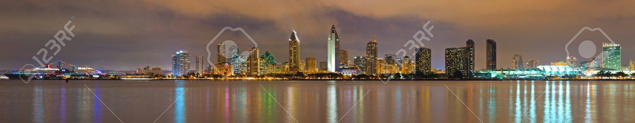 Downtown of San Diego at night Stock Photo - 9329016