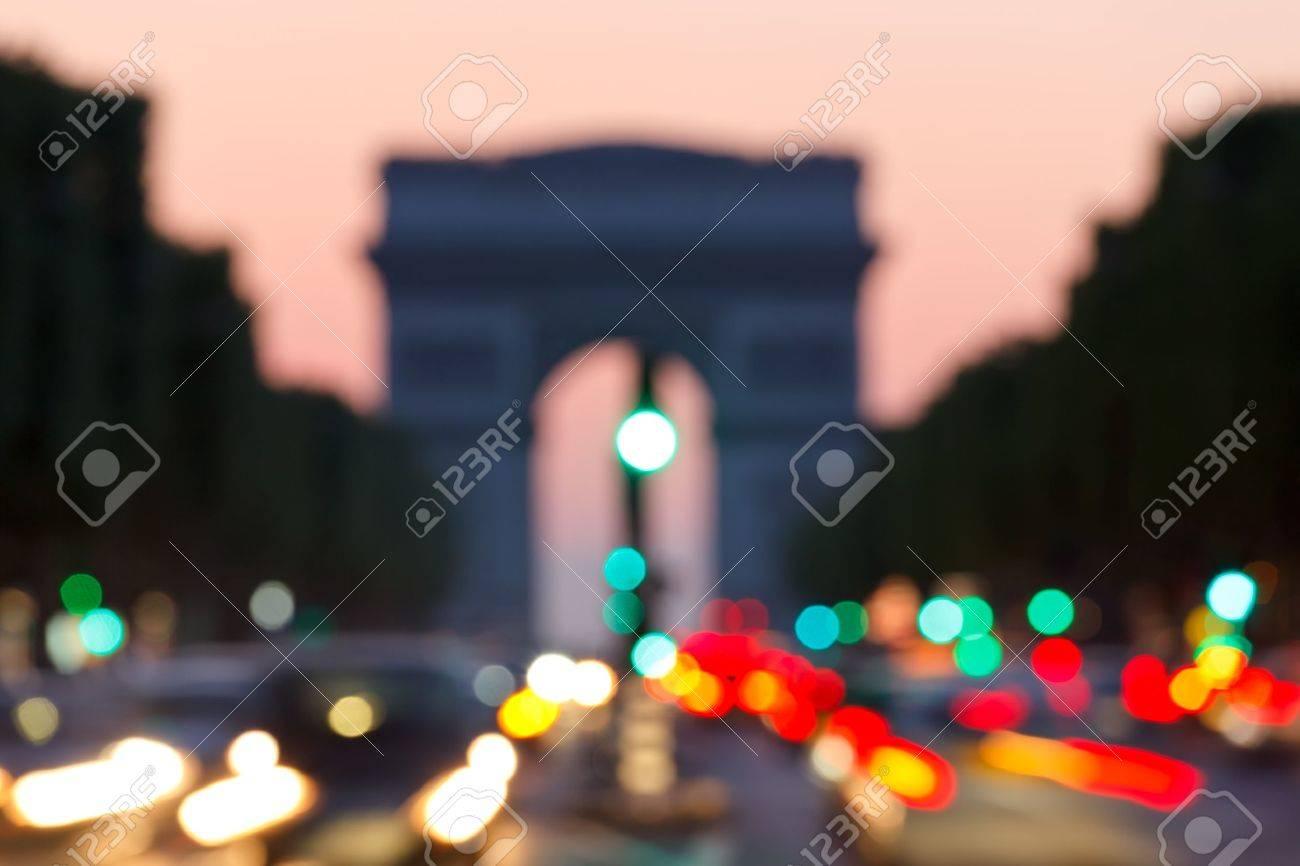 blured background: arc de triomphe, paris Stock Photo - 10129446