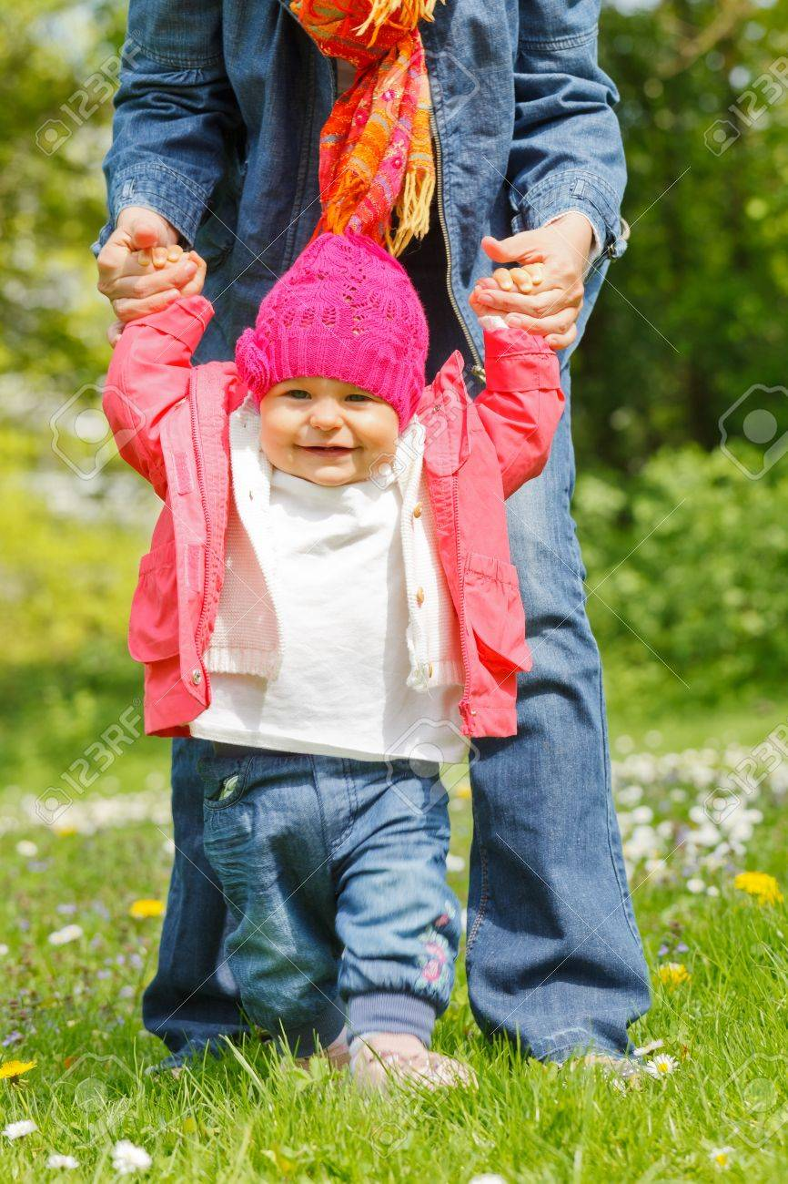 Mother with baby in the park Stock Photo - 10654295