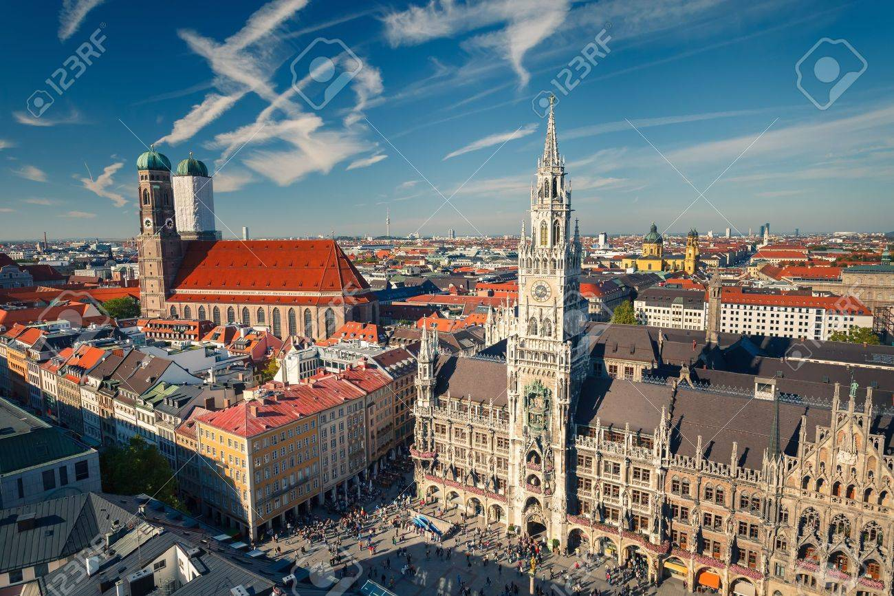 München aerial view of munchen stock photo picture and royalty free image
