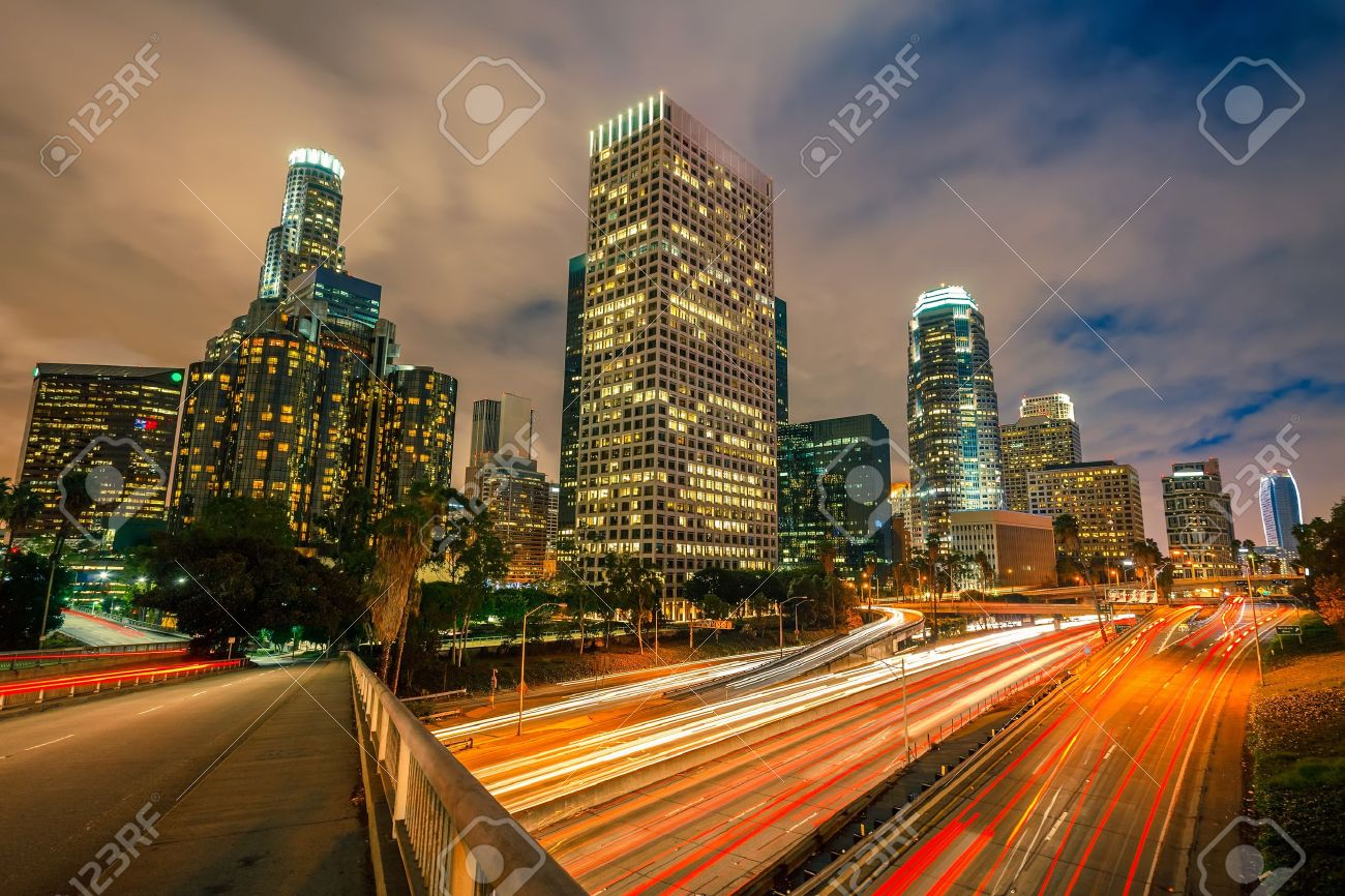Los Angeles at night Stock Photo - 15700618