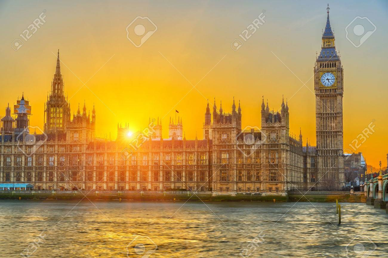 Houses of parliament at sunset, London, UK - 23000282