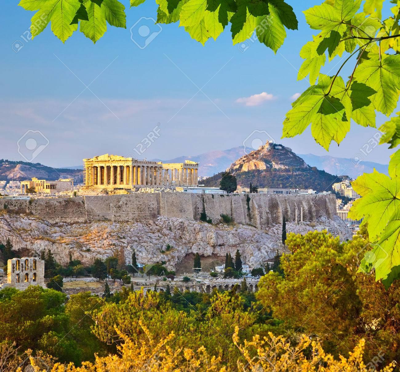 Acropole d'Athènes Banque d'images - 38179606