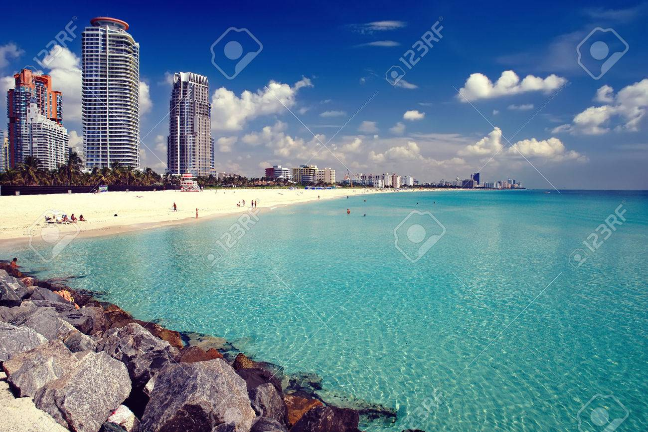 South Beach, Miami, Floride  Banque d'images - 44900982
