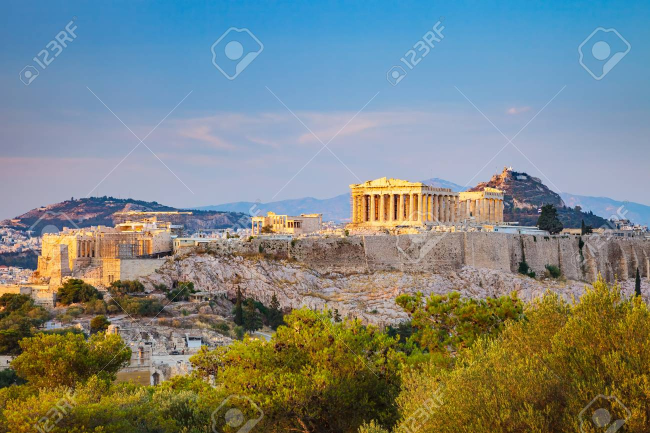 View on Acropolis at sunset, Athens, Greece - 79962168