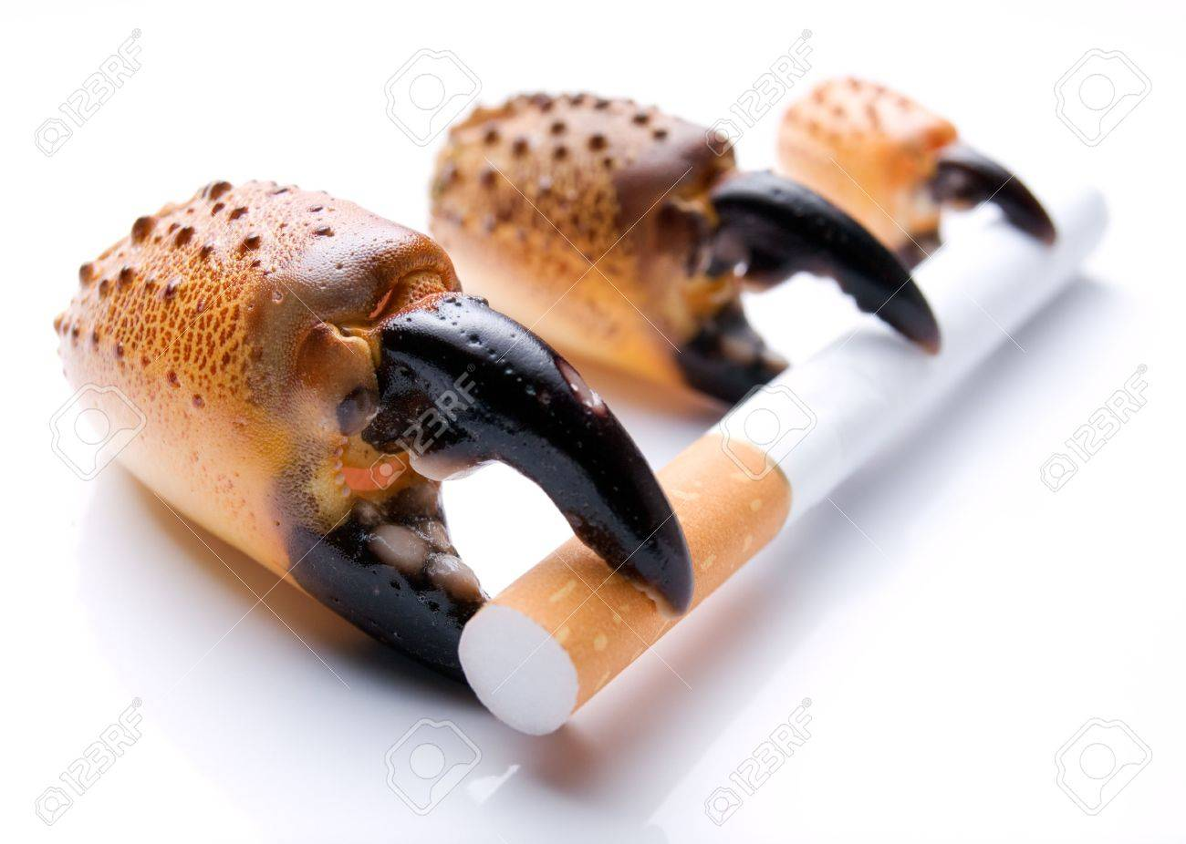 The metaphor about three stages of  development of the lung cancer because of smoking. Stock Photo - 5569537