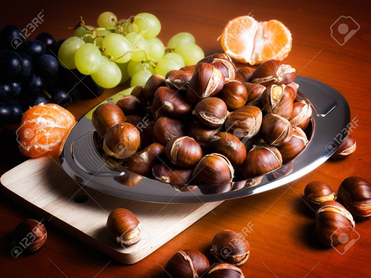 Closeup of domestic table after the autumnal harvest. Stock Photo - 5759634