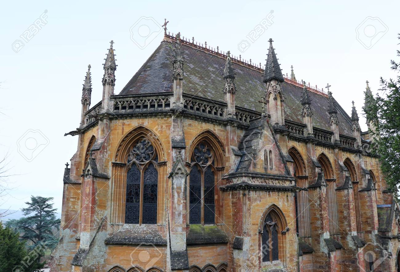 Victorian Gothic Revival House Chapel Tyntesfield Somerset Stock