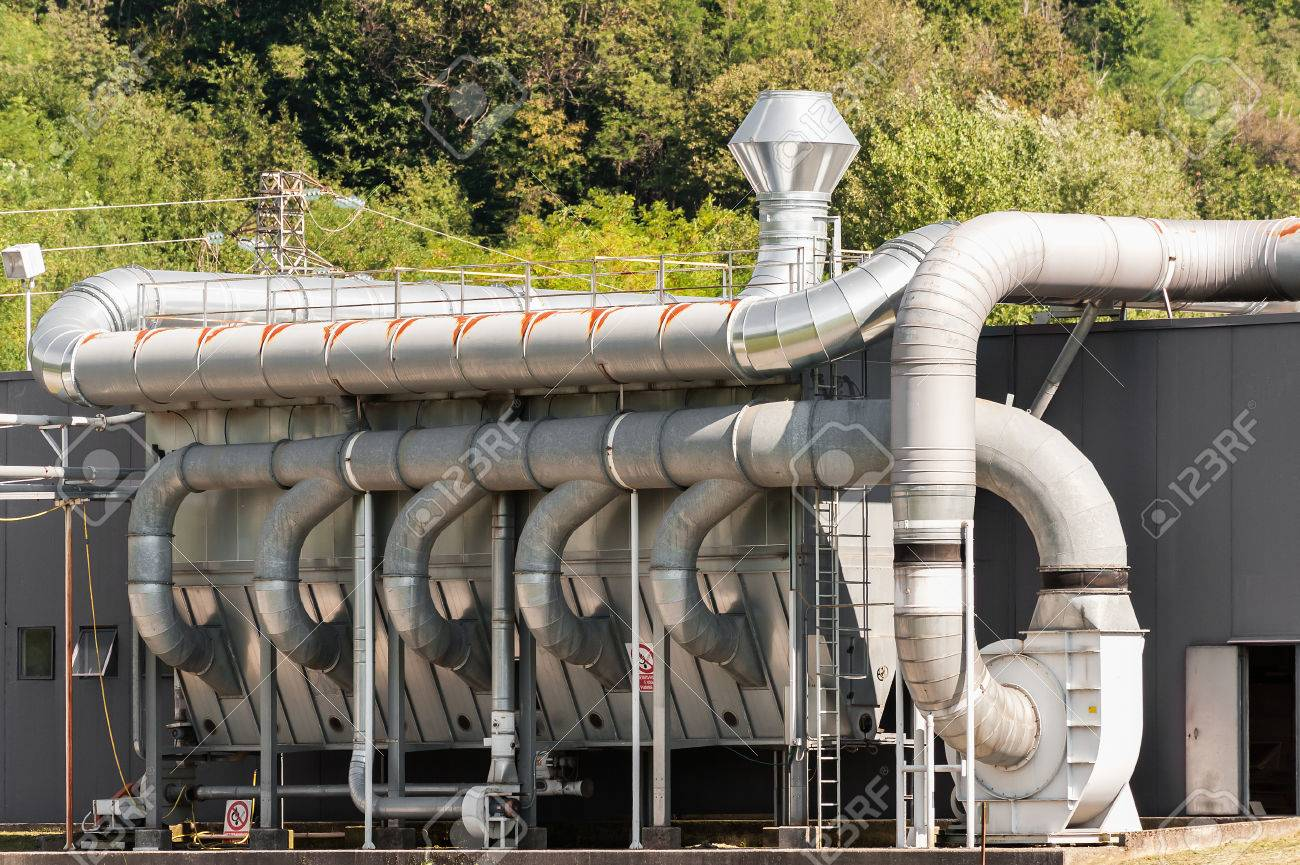 Industrial Ventilation And Filtration System Stock Photo, Picture ...