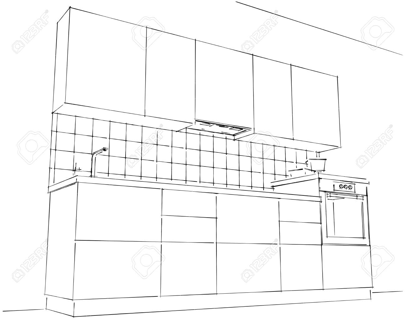 Dibujo Cocina Free El Dibujo Animado Delantal De Cocina With Dibujo