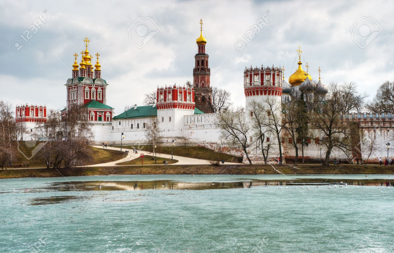 Novodevichy Convent In Moscow Stock Photo, Picture And Royalty ...