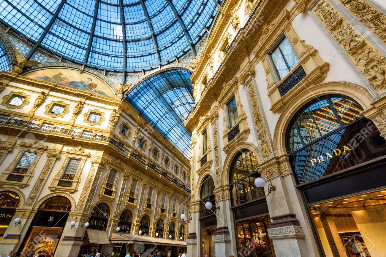 Milan Italy May 16 2017 Prada Stores In The Galleria Vittorio