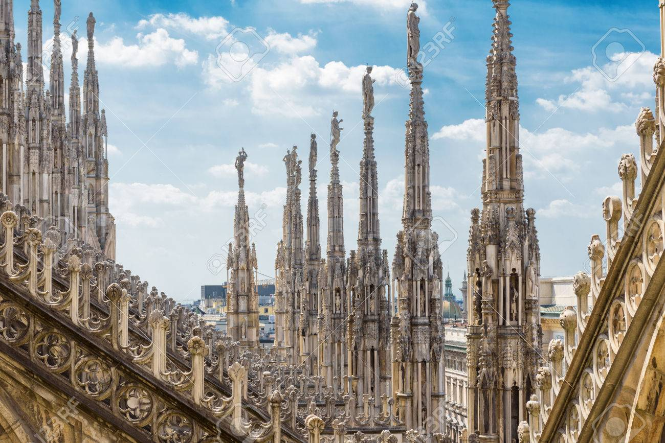 The Roof Of The Milan Cathedral Duomo Di Milano In Milan Italy Stock Photo Picture And Royalty Free Image Image 82244875