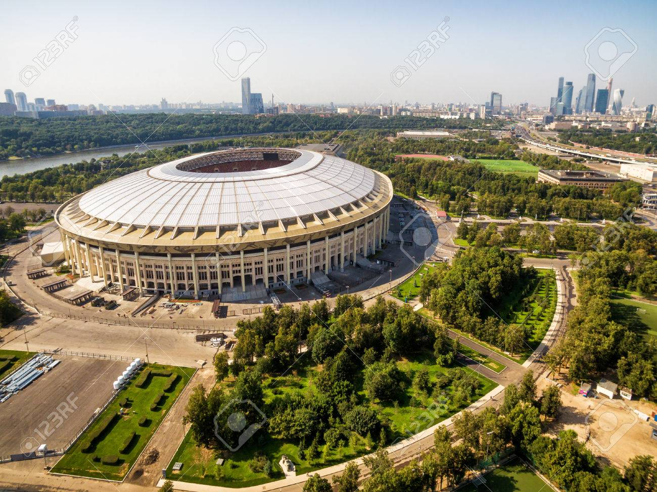 POSTER or CANVAS READY to Hang. Luzhniki Stadium in Russia Canvas Wall Art Design Poster Print D\u00e9cor for Home /& Office Decoration