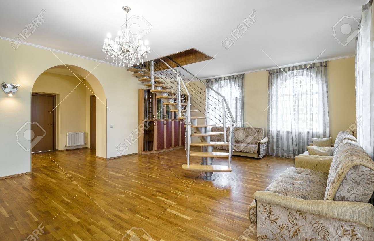 Moscow may modern interior of residential house or