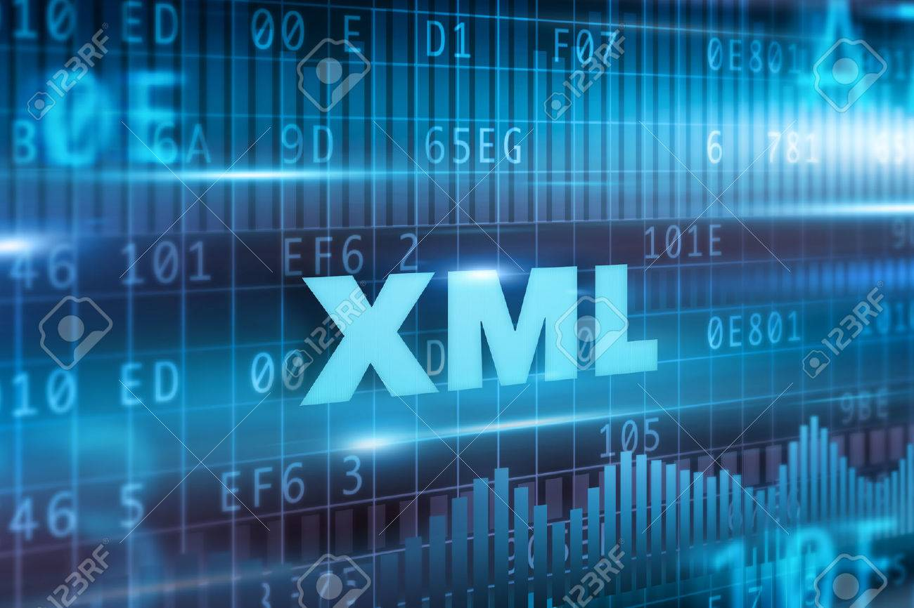 Background image xml - Stock Photo Xml Abstract Concept Blue Text Blue Background