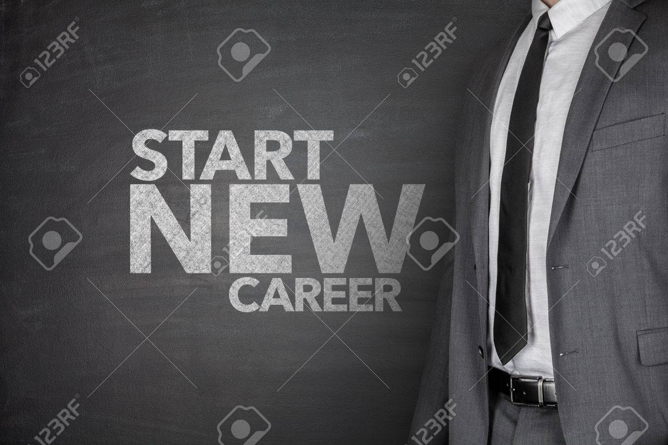 start new career on black blackboard businessman stock photo start new career on black blackboard businessman stock photo 33311441
