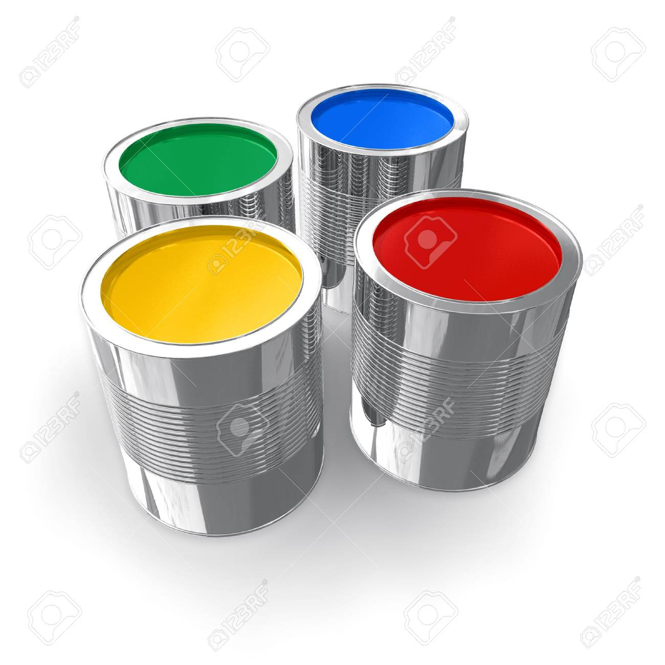 Cans with color paint Stock Photo - 4727882