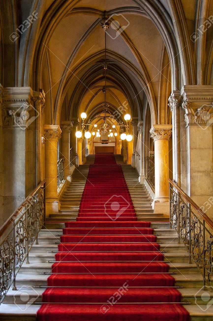 Gothic Castle Interior Stock Photo