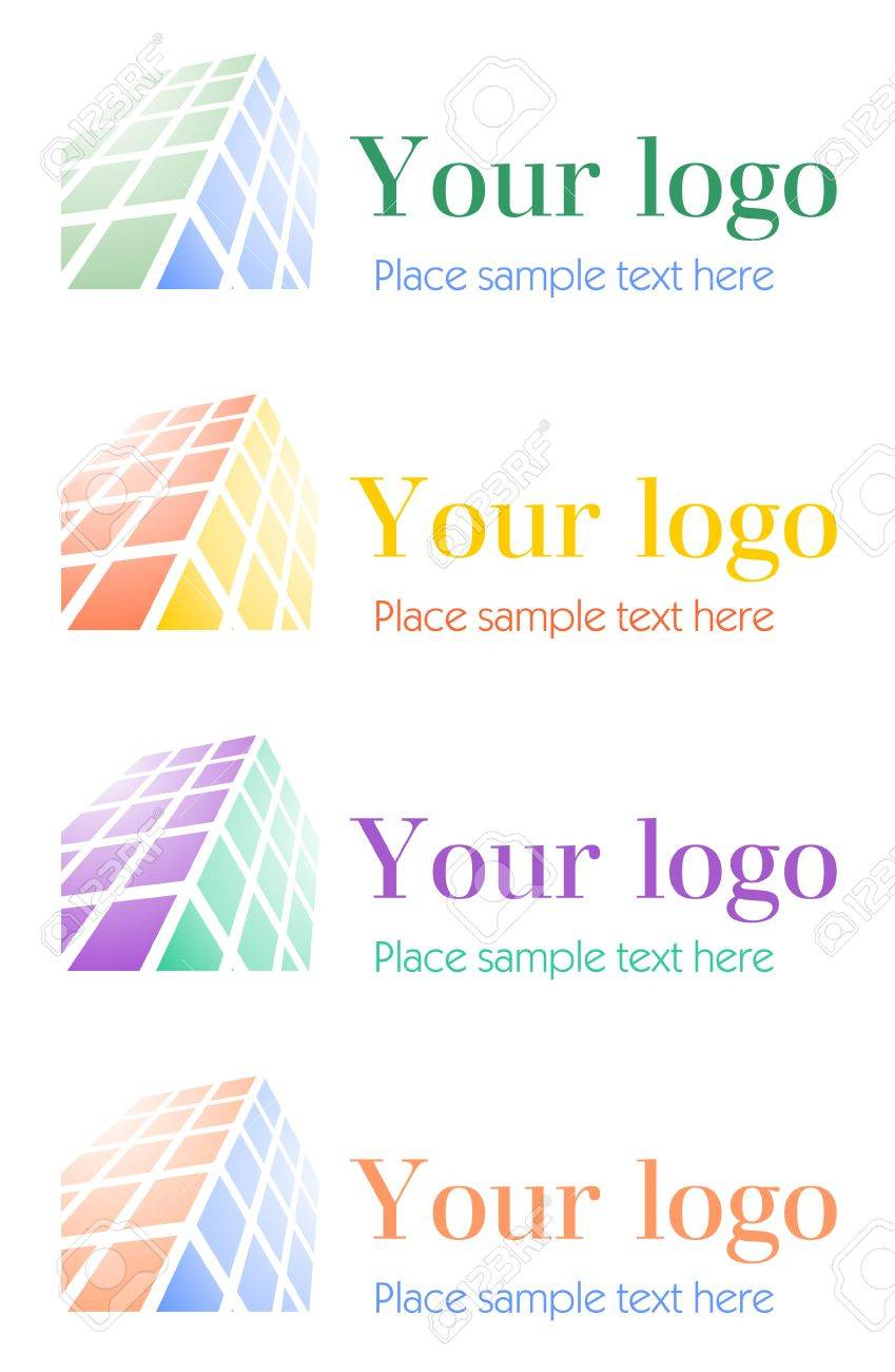 Architectural corporate logo set Stock Vector - 4842229