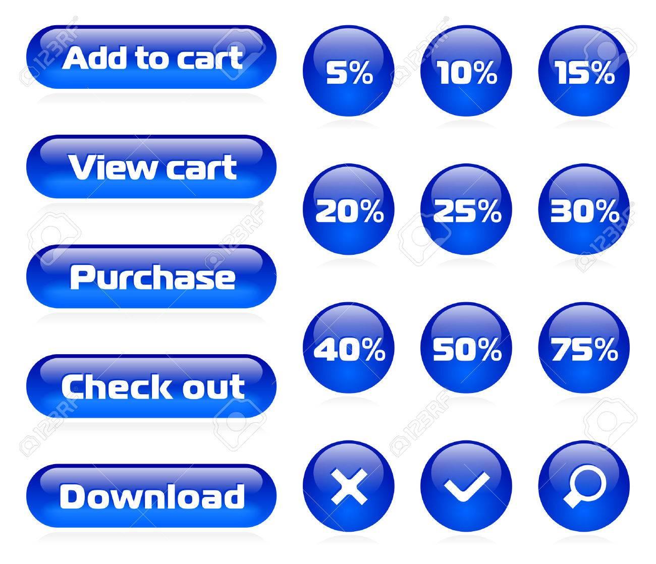 Online shop button set Stock Vector - 4897497