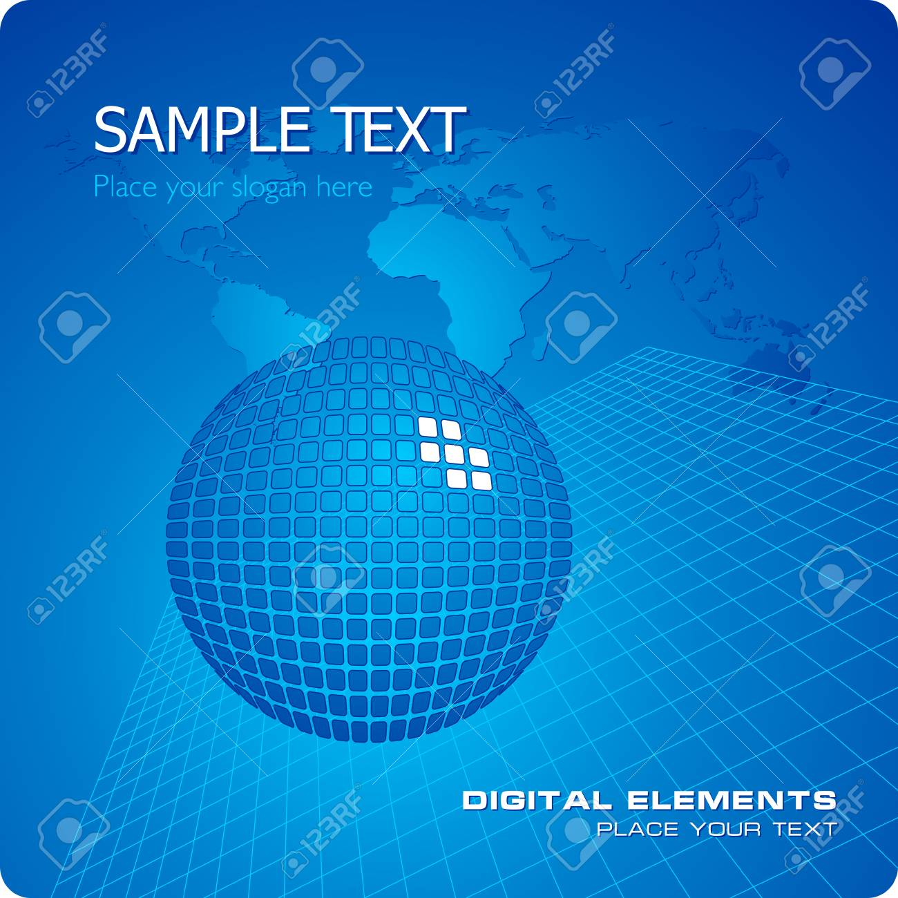 Blue stylish business template Stock Vector - 4897584