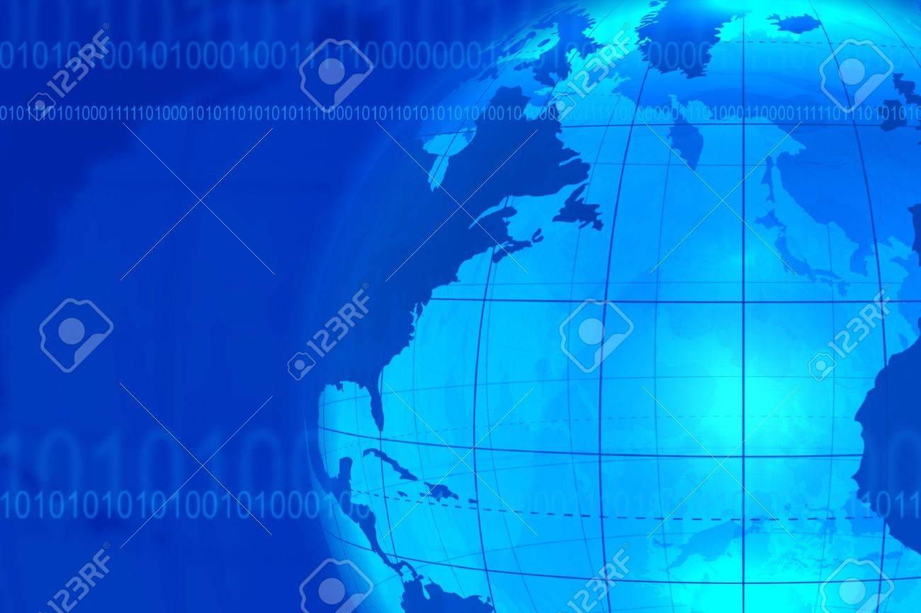 Blue business/communication background Stock Photo - 5243373