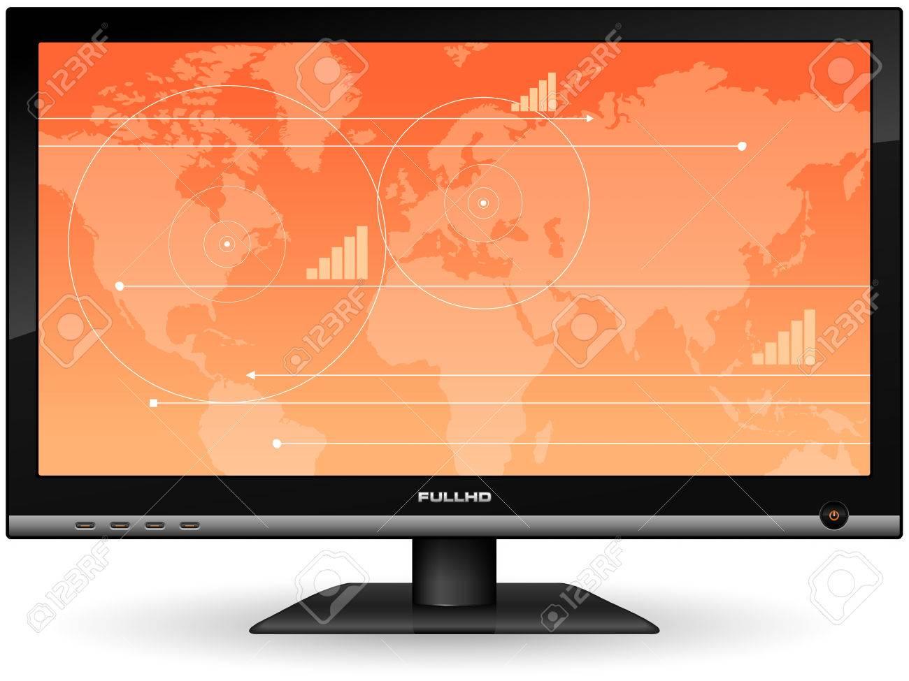 Plasma LCD TV Stock Vector - 6410907