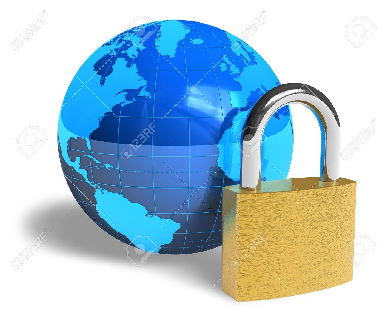 Internet security concept Stock Photo - 6784191