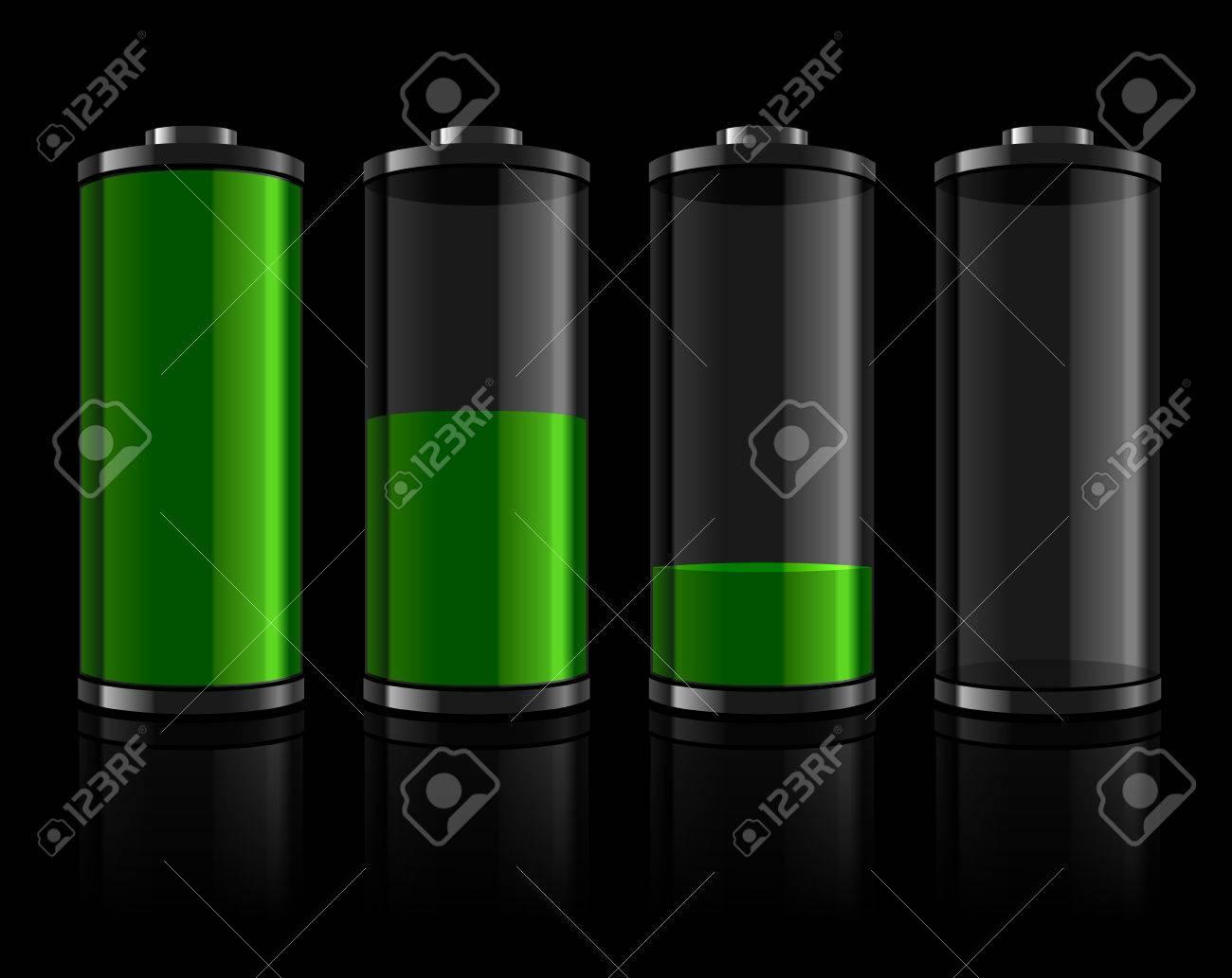 Battery levels set Stock Vector - 7495127