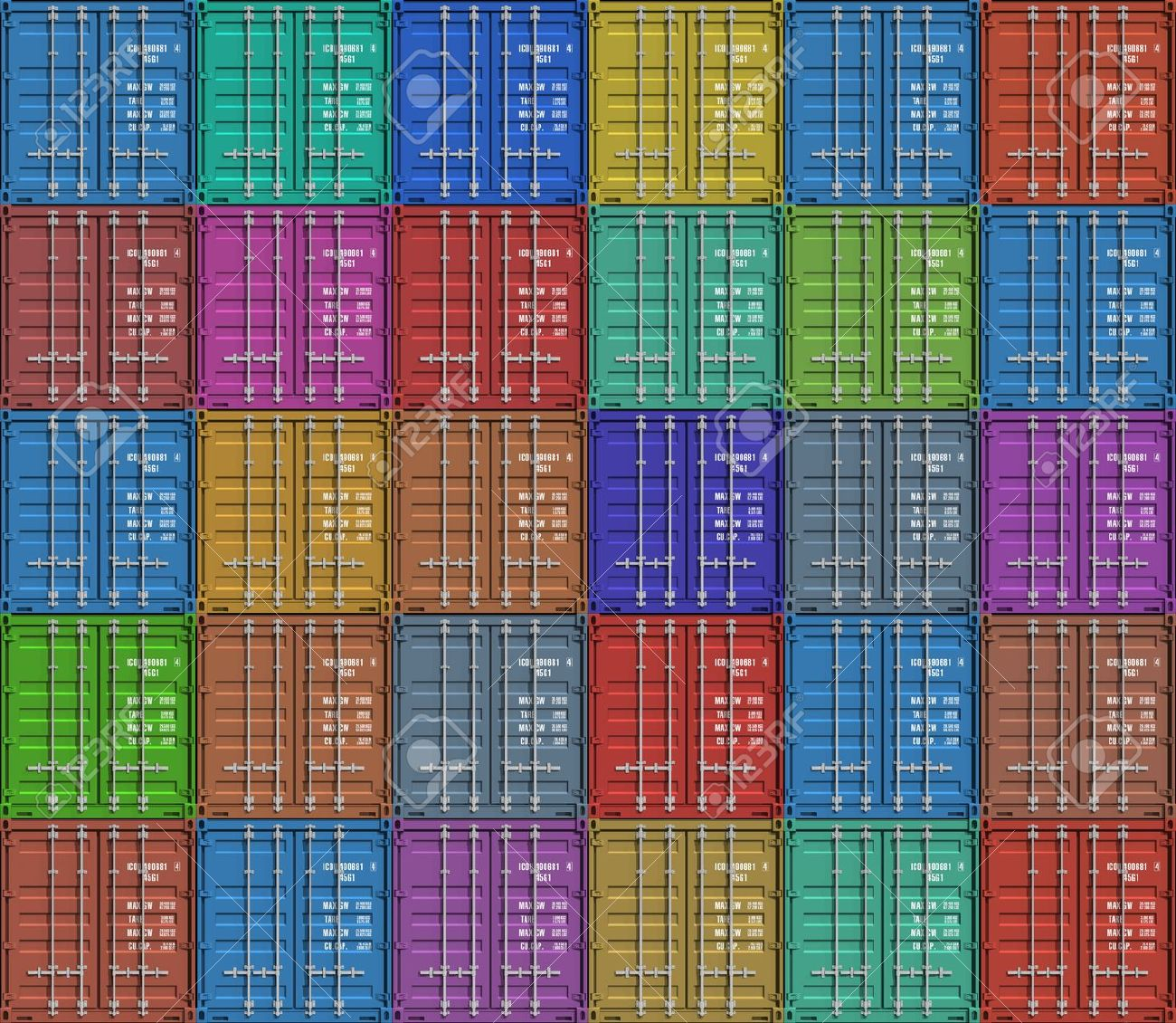 Background from color cargo containers Stock Photo - 7946985
