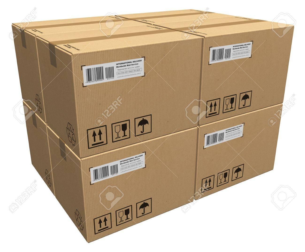 Cardboard boxes Stock Photo - 8424406