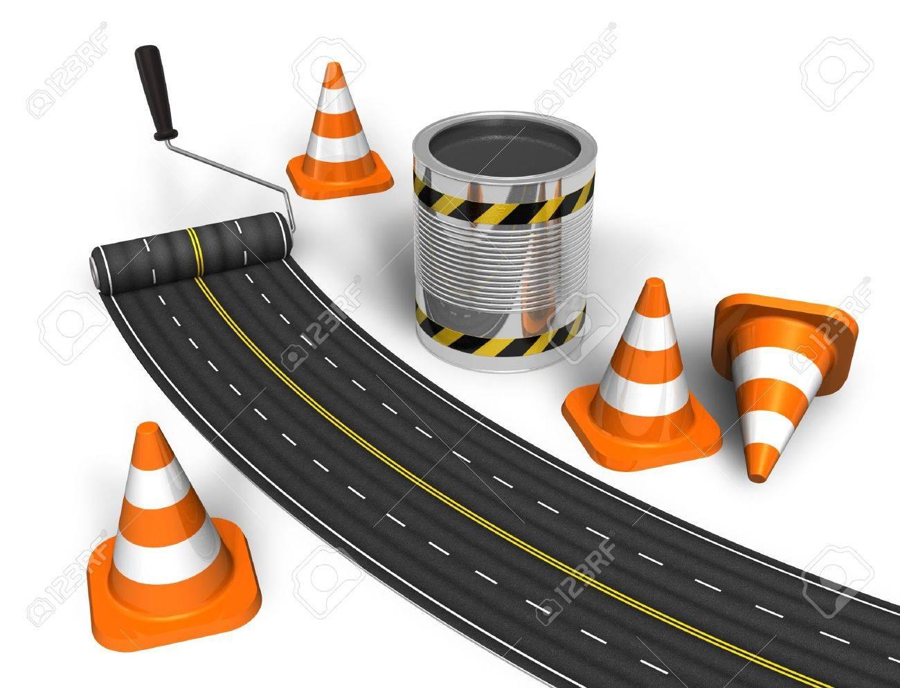 Road construction concept Stock Photo - 8518888