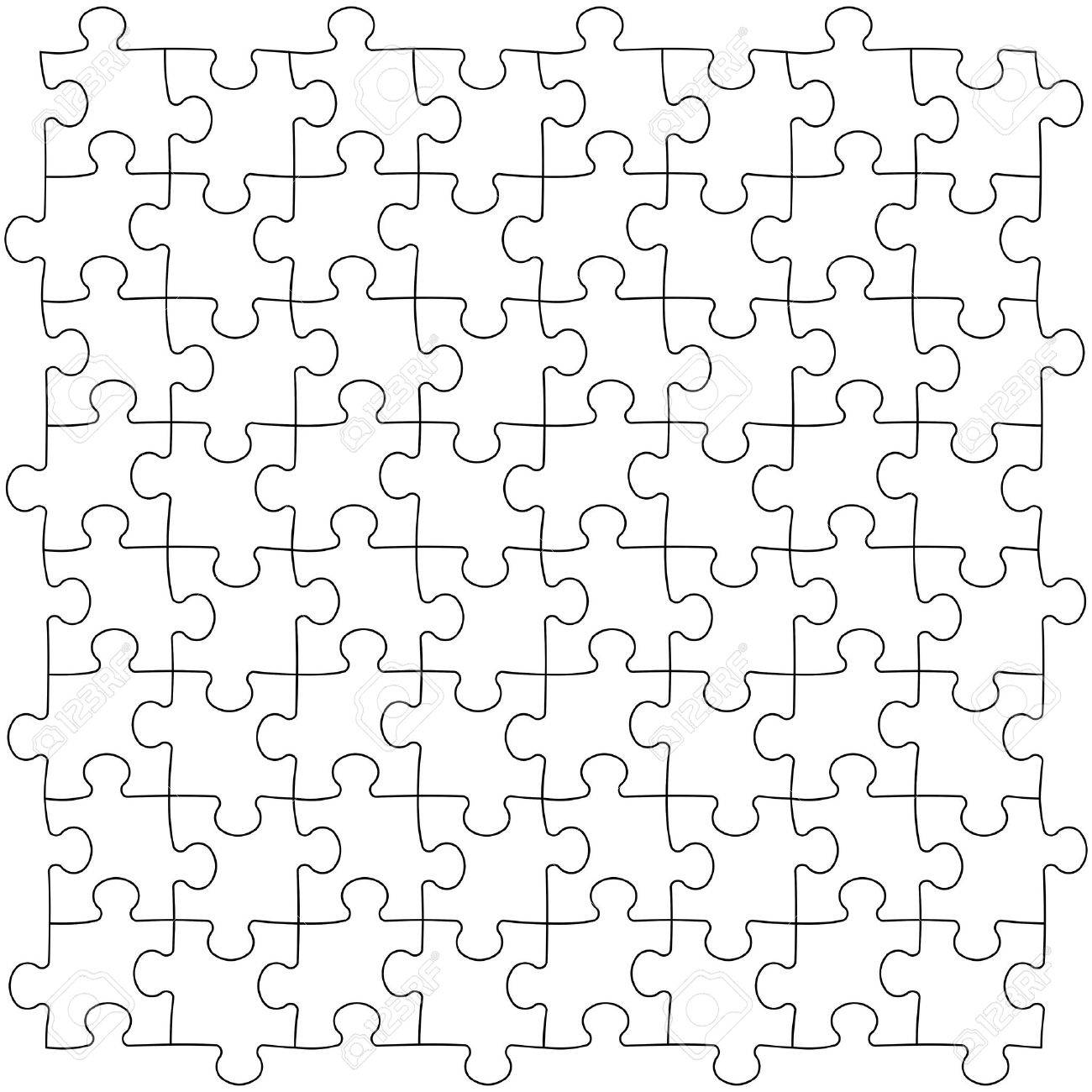 Puzzles Template Royalty Free Cliparts, Vectors, And Stock ...
