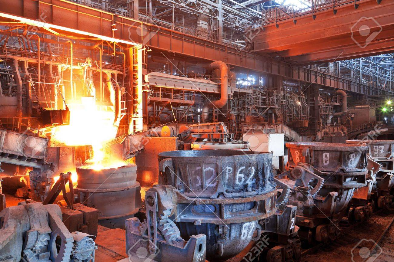 Open-hearth workshop of metallurgical plant Stock Photo - 12812224