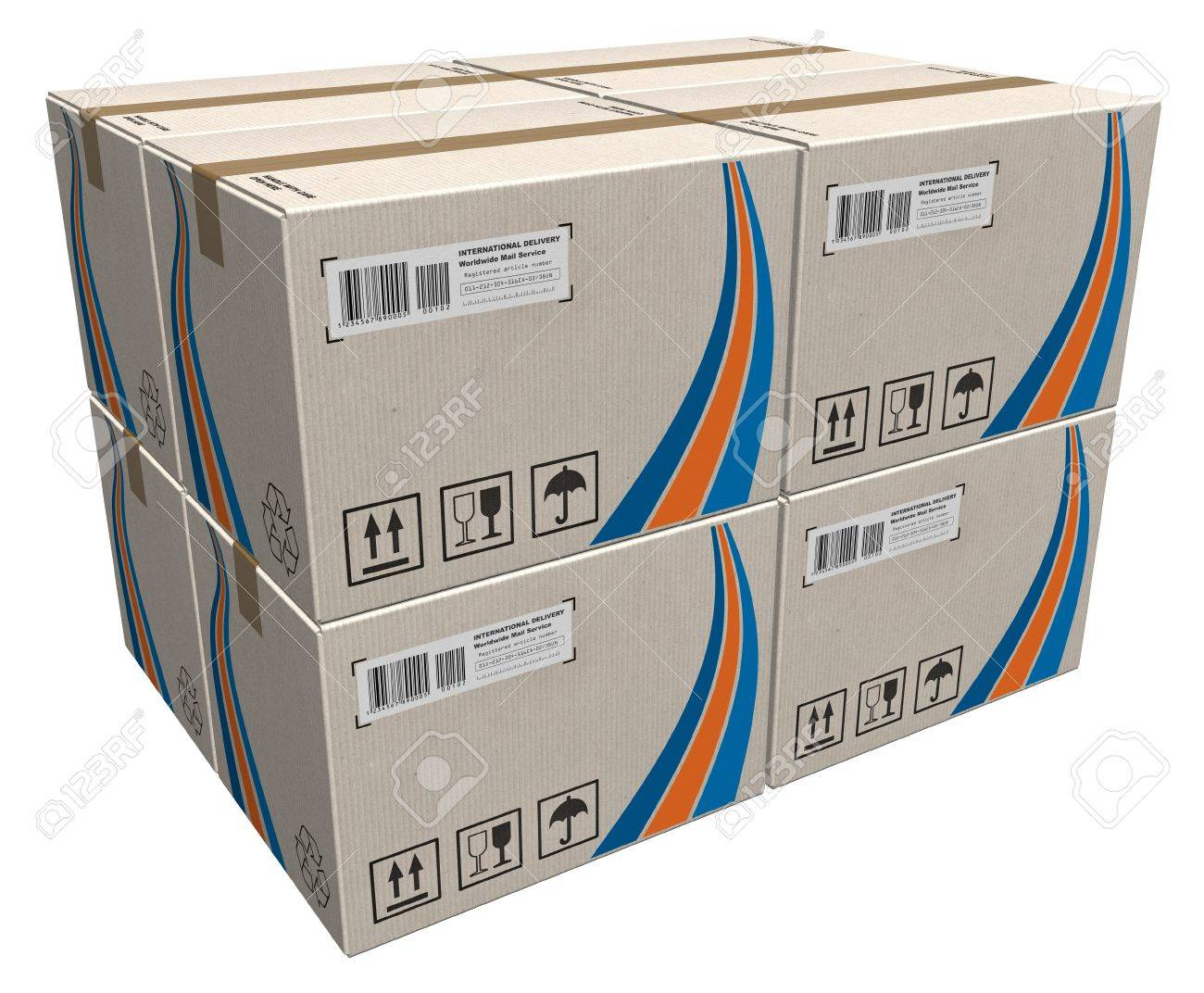 Stack of cardboard boxes Stock Photo - 8772636