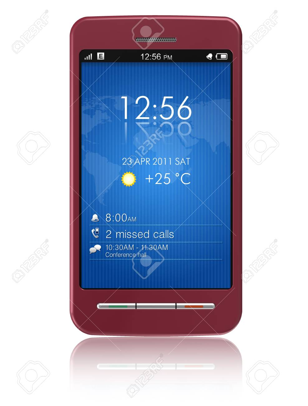 Touchscreen smartphone *** Design of this device is my OWN Stock Photo - 8994866