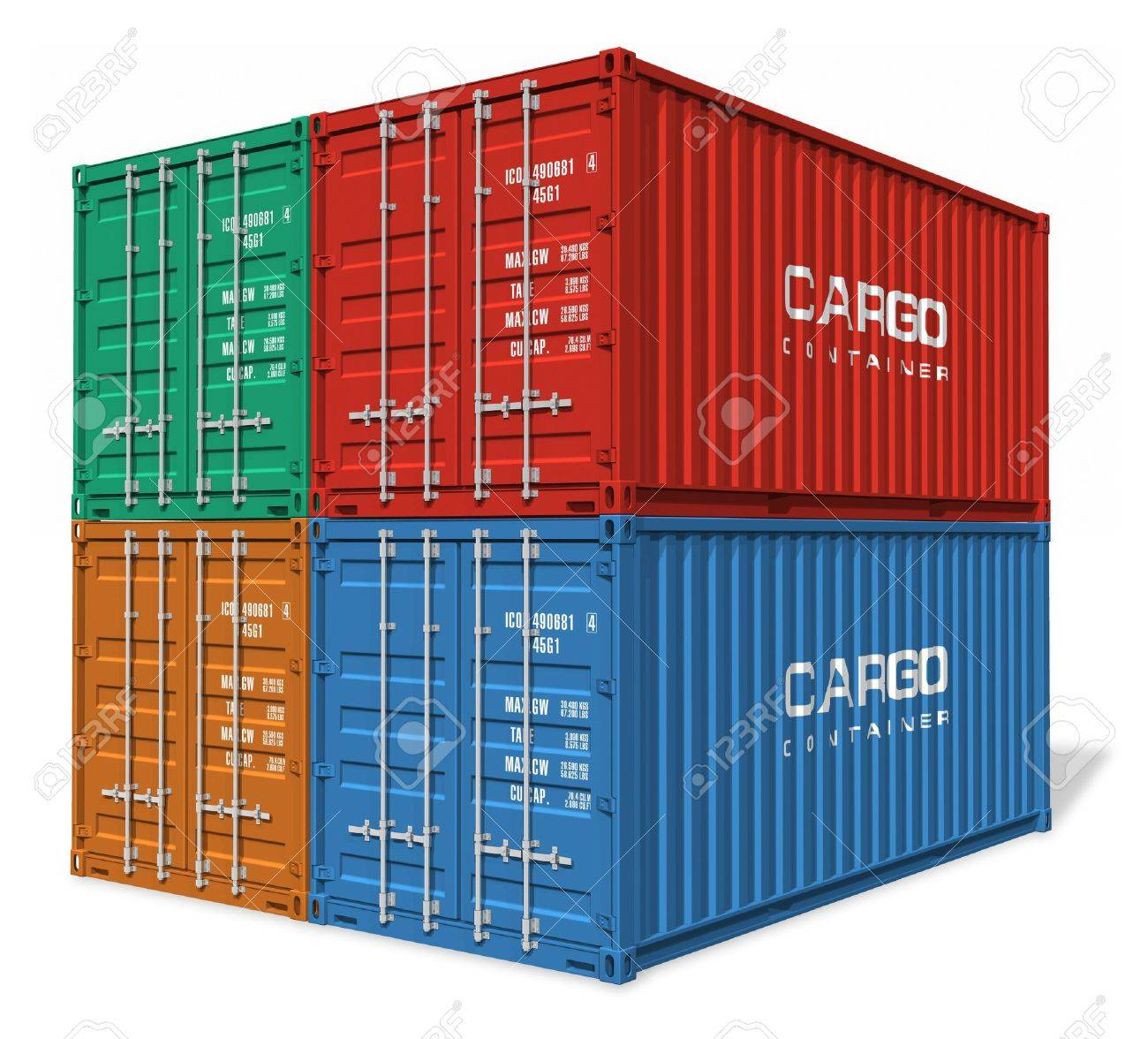 Set of cargo containers Stock Photo - 9034622