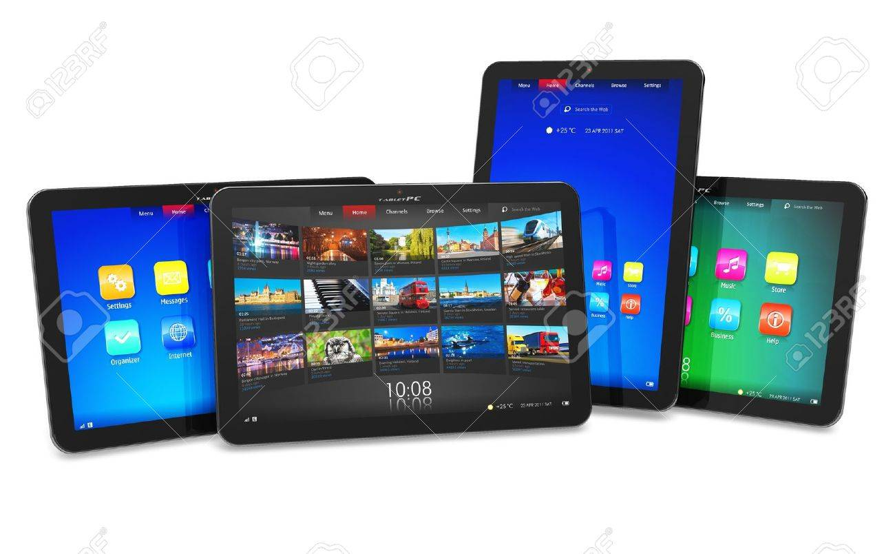 Set of tablet computers Stock Photo - 9196444