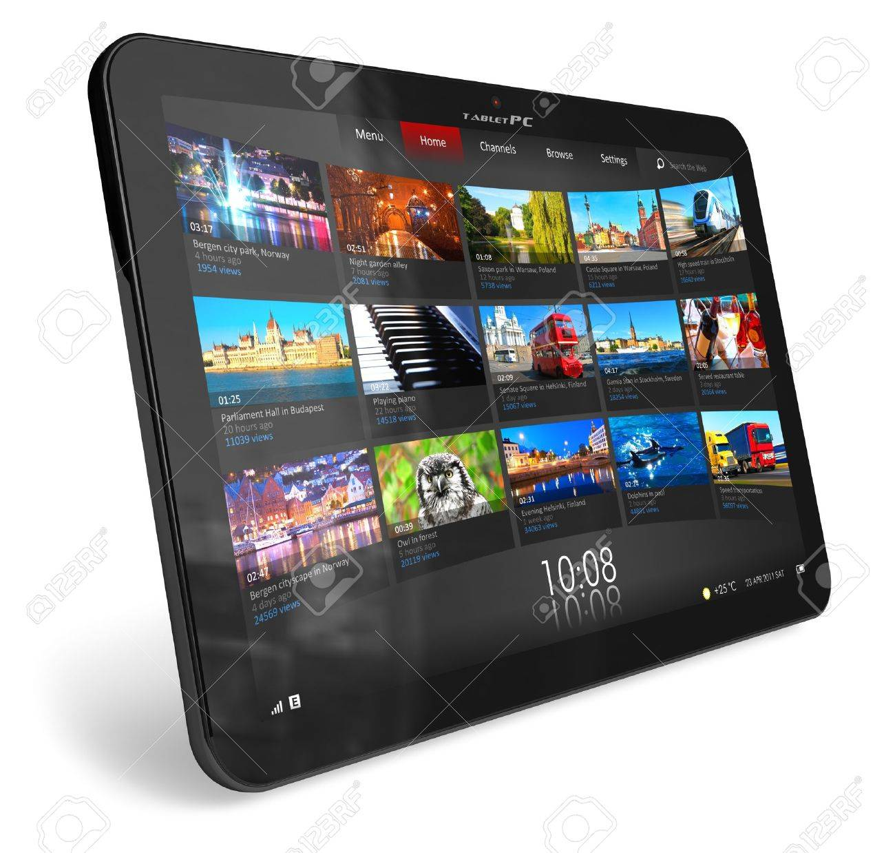 Tablet PC *** DESIGN OF THIS DEVICE IS MY OWN. PLEASE SEE RELEASE FOR DETAILS Stock Photo - 9227930